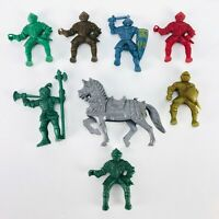 Vintage Toy Soldiers LIDO KNIGHTS Horse Lot Plastic Medieval Armor Animal