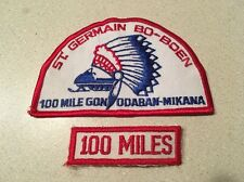 Vintage St Germain Bo-Boen 100 Mile Gon Odaban-Mikana Snowmobile Patch