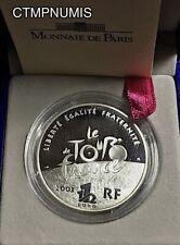 1 1/2 EURO  ARGENT CENTENAIRE DU TOUR DE FRANCE 2003 AVEC CERTIFICAT ET BOITE BE