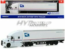 GREENLIGHT 1:64 2019 MACK ANTHEM 18 WHEELER TRACTOR TRAILER USPS 30090
