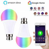 Ampoule Connectée LED B22 WiFi Intelligente Couleurs Compatible Alexa Google