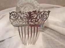 Antique Victorian Tiffany &Co Sterling Silver 26.9 grams Hair Comb #88 in series