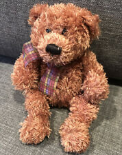 GUND HICCUP BEAR with Bow Brown Approx 22cm