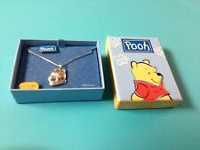 Disney Pooh .925 Sterling Silver Necklace and Charm