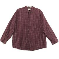 LL Bean Wrinkle Free Shirt Mens Size XXL 2XL Red Check Long Sleeve Button Front