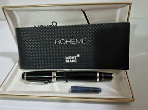 Mont Blanc Boheme Noir (Black Gem Stone) Fountain Pen MINT!!!