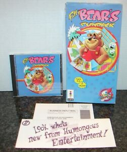 FATTY BEAR'S FUNPACK 3DO Video Game with Long Box, Inserts and Manual! COMPLETE