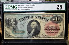 1869 $1 LEGAL TENDER NOTE ✪ PMG VF-25 ✪ VERY FINE US RAINBOW NOTE FR-18◢TRUSTED◣