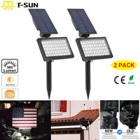 2 Pack Solar 50 LED Spot Light Outdoor Garden Landscape Flood Lamp Waterproof