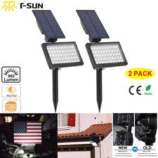 2 Pack Solar 50 LED Spot Light Outdoor Garden Landscape Flood Lamp Waterproof