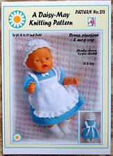 DOLLS KNITTING PATTERN  for BABY BORN or 16/17ins doll No 278 - By Daisy-May