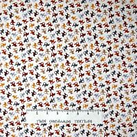 Animal Fabric - Small Cats Toss Brown Beige - Timeless Treasures YARD