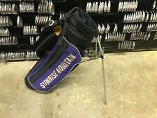 Nice Lightweight Ping Golf Purple & Black Stand Bag Dual Carry Straps Vintage