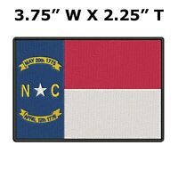 NORTH CAROLINA STATE FLAG embroidered iron-on PATCH new APPLIQUE EMBLEM