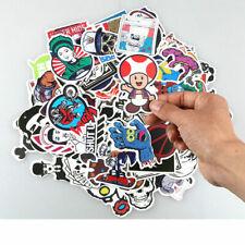 100 Random Skateboard Stickers Vinyl Laptop Luggage Decals Sticker Lot Mixed