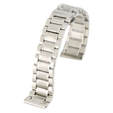 20mm Silver Black Solid Stainless Steel Watch Band Replacement Spring Bars