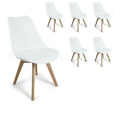 6 White Toulouse Eiffel Style Quality Designer Dining Chairs Art Deco