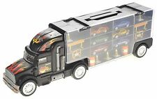 "1:26 Transport Semi Truck 6 Car Carrier Large 18 Wheeler Toy Boys 20"" New"