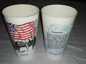 Rare 1975 Slurpee American Flag History Plastic Cup Grand Union Flag Amoco