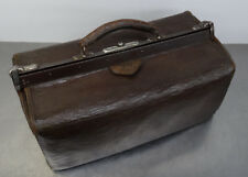 antique doctor's bag - Antike Hebamme Koffertasche Koffer Arzt Leder Tasche 1900