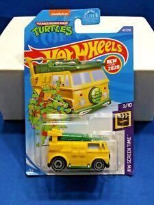2020 Teenage Mutant Ninja Turtles Hot Wheels 1:64 Scale Party Wagon BRAND NEW