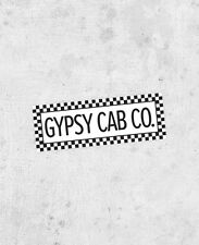 The Royal Tenenbaums Gypsy Cab Co. Sticker! from the Wes Anderson film bumper
