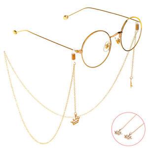 Crown Reading Glasses Eyeglass Lanyard Glasses Necklace Eye wear Glasses Chai`AW
