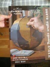 Hammer + Axe World Traveler Gold Foil Scratch Off 3D Globe New G20T3