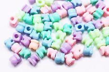 Elephant Bead Plastic Animal Shape Candy Color Small Children Baby DIY 7mm 40pcs