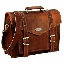 Leather Computer Bag For Office Leather Cross-Body Bag Over The Shoulder For Men