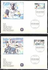 Berlin Michelnummer 864 - 865  offizieller FDC (europa:6559) Sport Jhrg.1990
