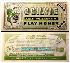 Vtg Ralston Purina Chows $1 $100 $25 $500 Dollar Buckos Play Money $10 $5