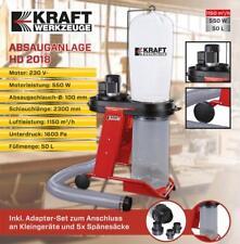 Kraft Werkzeuge Absauganlage Sauganlage Absauger HD 2018, 230V, 550W Adapter Set