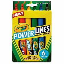 Project Markers Pens 6 Vibrant Colours Scented Crayola Power Lines Pack of 6