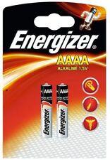 2 x Energizer AAAA Mini LR61  MN2500 25A E96 LR8D425 Batterie OVP