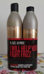 REDKEN frizz dismiss XL DUO SHAMPOO & CONDITIONER 2 x 500ml ( Total 1000ml )