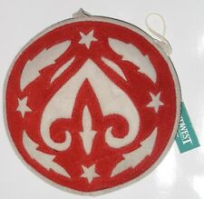 *NwT* Large Red SuEdE Christmas Ornament