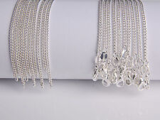 10PCS Wholesale 26inch Fashion Jewelry Lot 60% Silver Flat Curb Chain Necklaces