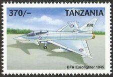 RAF EFA EUROFIGHTER TYPHOON Aircraft Mint Stamp (1999 Tanzania)