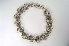 Chain Maille Argentium Sterling Silver  Bracelet