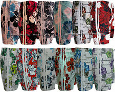 Mens Boys Summer Floral Print Beach Shorts Surf Board Swim Shorts M - XXXL