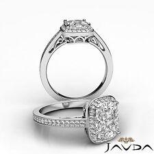 Halo Cushion Diamond Elegant Engagement Ring GIA Certified H SI1 Platinum 1.5 ct