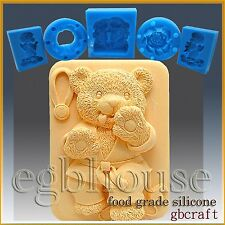 2D Silicone Soap/sugar craft/fondant/chocolate/candy Mold – Tae Kwon Do Bear