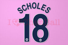 Scholes #18 2008-2009 Manchester United CL awaykit Nameset Printing