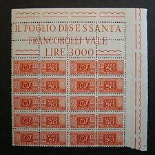 1955 Italia Blocco 10 Valori   50 lire Pacchi postali  filig. stelle