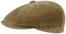 Stetson Manchester Corduroy Bakerboy Cap Hat Hatteras 7 Beige New Trend