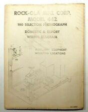 Rock-Ola Model 442 . Domestic & Export Fold-Out Wiring Diagram w/ Aux Equip.
