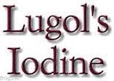 Lugol Iodine 15% Correct Strength Solution 50ml Eye Dropper Bottle