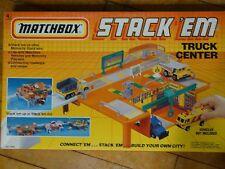 Matchbox Stack 'Em Truck Center Stop Motorcity Car Play Set Toy 1990 NIB