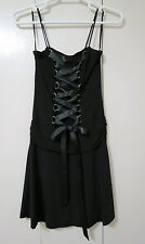 Hot Topic corset front dress size XL black poly spandex NEW goth punk Morbid